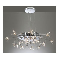 PLC Lighting Seville Chandelier in Polished Chrome with Clear Glass 21136-PC