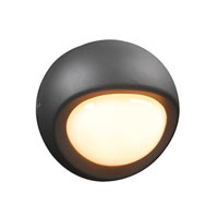 PLC Lighting Sol 1 Light Outdoor Wall Sconce in Bronze 2114-BZ