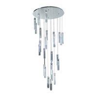 PLC Lighting Segretto Chandelier in Polished Chrome with Clear Glass 21188-PC