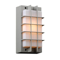 PLC Lighting Lorca 1 Light Outdoor Wall Sconce in Silver 2119-SL
