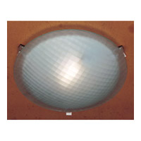 PLC Lighting Contempo Flush Mount in Polished Chrome with Chequered Glass 22208/CFL-PC