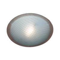 PLC Lighting Contempo Flush Mount in Polished Chrome with Chequered Glass 22219/CFL-PC