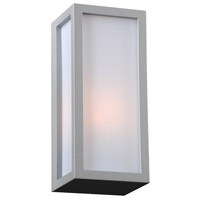 PLC Lighting 2240SLLED Dorato LED 10 inch Silver Outdoor Wall Light