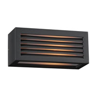 PLC Lighting Madrid 1 Light Outdoor Wall Sconce in Bronze 2242-BZ