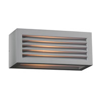 PLC Lighting Madrid 1 Light Outdoor Wall Sconce in Silver 2242-SL photo thumbnail