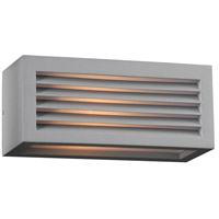 PLC Lighting 2242SLLED Madrid LED 4 inch Silver Outdoor Wall Light