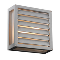 PLC Lighting Moritz 2 Light Outdoor Wall Light in Silver 2246SL213GU24