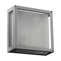 PLC Lighting Mauviel 1 Light Outdoor Wall in Silver 2248-SL