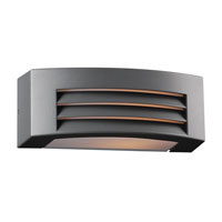PLC Lighting Luciano 1 Light Outdoor Wall Sconce in Bronze 2253-BZ