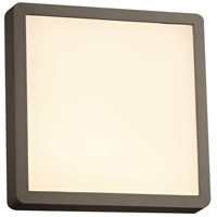 Oliver LED 10 inch Bronze Outdoor Wall Light, Square