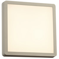 PLC Lighting 2258SL Oliver LED 10 inch Silver Outdoor Wall Light Square