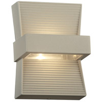 PLC Lighting 2260SL Fiona LED 7 inch Silver Outdoor Wall Light