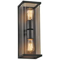 PLC Lighting 2271BZ Dreiden 2 Light 16 inch Bronze Outdoor Wall Light Large