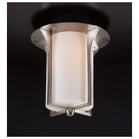 PLC Lighting Pixel Flush Mount in Satin Nickel with Matte Opal Glass 23010/CFL-SN
