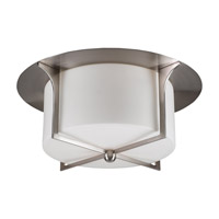 PLC Lighting Pixel Flush Mount in Satin Nickel with Matte Opal Glass 23018-SN