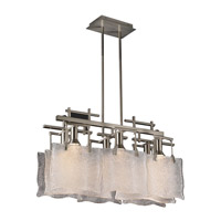 PLC Lighting Carilon Pendant in Satin Nickel with Frost Glass 23035-SN