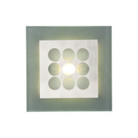 PLC Lighting Robusto Sconce in Satin Nickel with Acid Frost Glass 2304-SN