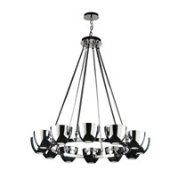 PLC Lighting Precidio 12 Light Chandelier in Polished Chrome 23046-PC photo thumbnail