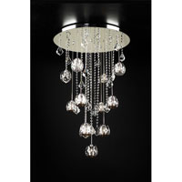PLC Lighting Soleil Chandelier in Polished Chrome with Clear W. Smoke Lip Glass 23162-PC