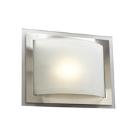 PLC Lighting Sisal Sconce in Satin Nickel with Acid Frost Glass 2326/CFL-SN