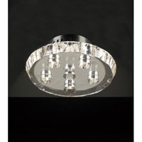 PLC Lighting Calice Flush Mount in Polished Chrome with Clear Glass 23412-PC photo thumbnail