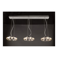 PLC Lighting Calice Pendant in Polished Chrome with Clear Glass 23416-PC