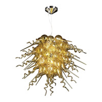Elixir 5 Light 30 inch Polished Chrome Chandelier Ceiling Light