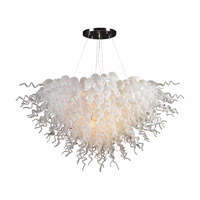 PLC Lighting Elixir 19 Light Chandelier in Polished Chrome and Frost Glass 23618-FR/PC