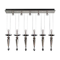 PLC Lighting Lamore Mini Pendant in Polished Chrome with Smoked Crsytal Glass 23664-PC