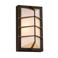 PLC Lighting Expo 1 Light Outdoor Wall Sconce in Bronze 2400-BZ