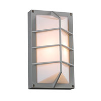 PLC Lighting Expo 1 Light Outdoor Wall Sconce in Silver 2400-SL