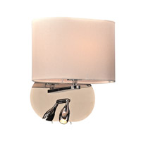 PLC Lighting Mademoiselle 2 Light Wall Sconce in Polished Chrome 24216PC113GU24