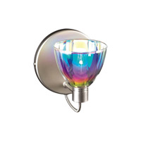 PLC Lighting Verano 1 Light Wall Sconce in Satin Nickel 247-SN