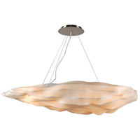 PLC Lighting 2655 Kimoto 4 Light 48 inch Satin Nickel Pendant Ceiling Light photo thumbnail