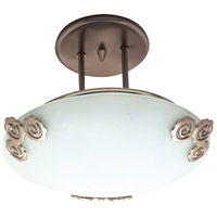 Aroma 1 Light 12 inch Polished Brass Semi-Flush Mount Ceiling Light