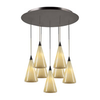 PLC Lighting Caroline Pendant in Oil Rubbed Bronze with Nartural Onyx Glass 2837-ORB