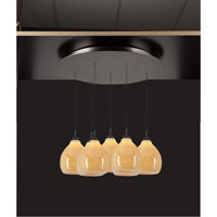 PLC Lighting Mango 7 Light Pendant in Oil Rubbed Bronze 2847-ORB