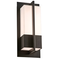 PLC Lighting 2902BK Brecon LED 13 inch Black Outdoor Wall Light Small
