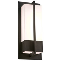 PLC Lighting 2904BK Brecon LED 16 inch Black Outdoor Wall Light Medium