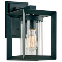 PLC Lighting 2911BK Sullivan 1 Light 11 inch Black Outdoor Wall Light Small