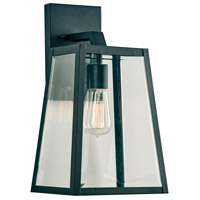 PLC Lighting 2922BK Park Avenue 1 Light 16 inch Black Outdoor Wall Light Medium