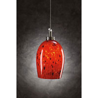 PLC Lighting Pina 1 Light Mini Pendant in Satin Nickel 314-RED