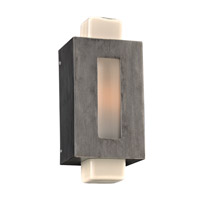 PLC Lighting Pema 1 Light Outdoor Wall Light in Antique Silver 31630ANS