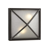 PLC Lighting Danza Outdoor Wall Sconce in Bronze with Frost Glass 31700-BZ