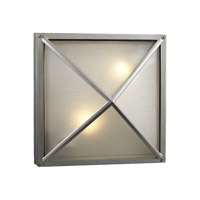 PLC Lighting Danza 2 Light Outdoor Wall Sconce in Silver 31700-SL photo thumbnail