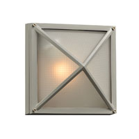 PLC Lighting Danza II 1 Light Outdoor Wall Sconce in Silver 31705-SL