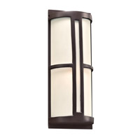 PLC Lighting Rox 1 Light Outdoor Wall Light in Oil Rubbed Bronze 31736ORB