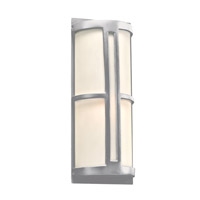 PLC Lighting Rox 2 Light Outdoor Wall Light in Silver 31736SL226GU24