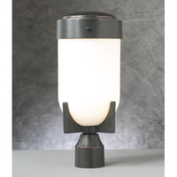 PLC Lighting Firenzi Outdoor Post Mount in Oil Rubbed Bronze with Matte Opal Glass 31754-ORB
