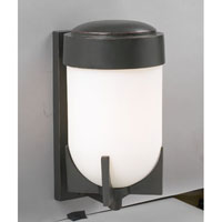 PLC Lighting Firenzi Outdoor Wall Sconce in Oil Rubbed Bronze with Matte Opal Glass 31758-ORB